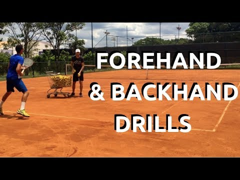 Forehand and Backhand Drills To Clean Footwork and Technique | Tennis