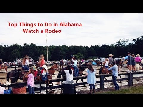 Top Things to Do in Alabama-Watch a Rodeo 来美国阿拉巴马州旅游-看超酷的牛仔表演