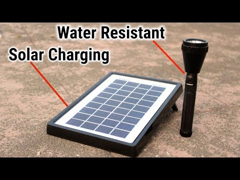 Long Range Torch with Water Resistance | Solar Charging