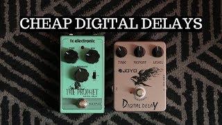 CHEAP DIGITAL DELAY PEDALS: TC Electronic Prophet vs Joyo Digital Delay