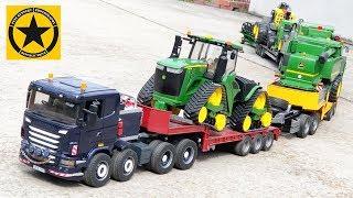 BRUDER Spielwaren - MONSTER TRUCK TRAIN all JOHN DEERE heavy gear John Deere 9620RX - Raupentraktor