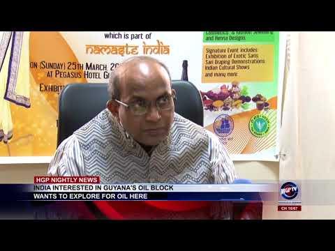 INDIA INTERESTED IN GUYANA'S OIL BLOCK