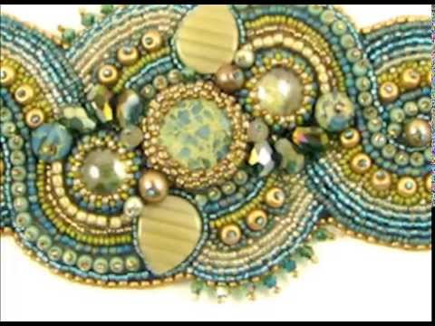 Beads East Bead Embroidery Two Minute Class Youtube