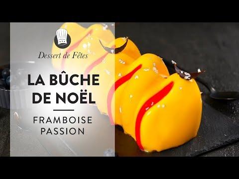 recette-facile-:-la-bûche-de-noël-passion-framboise-!