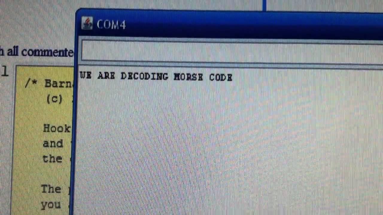 Arduino copies morse code youtube