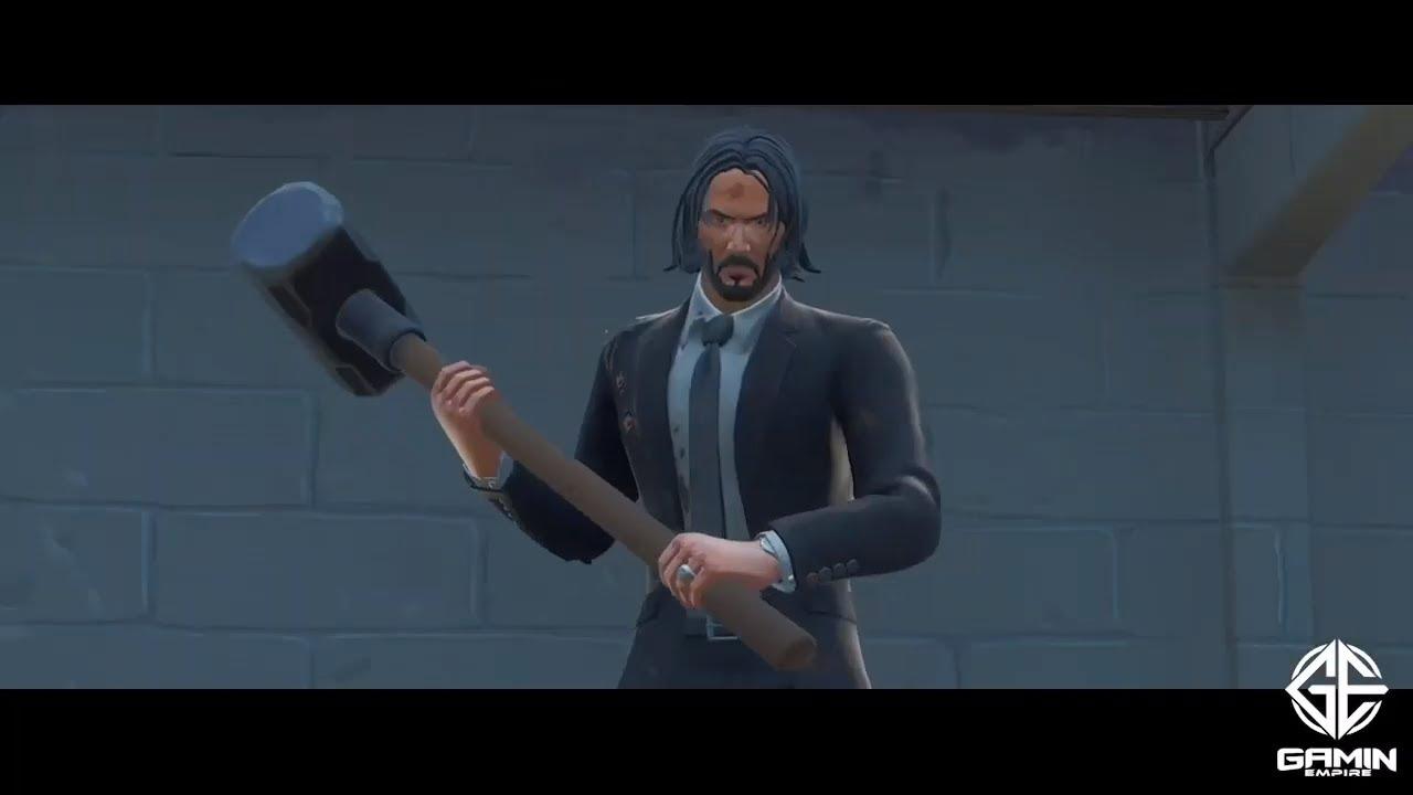 John Wick Killing Three Men With A Pencil Fortnite Meme Youtube