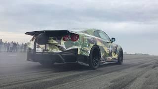 2100hp Nissan GT-R 367km/h @ half mile!!! TTT Half Mile 30.09.2017