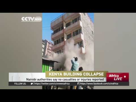 Nairobi authorities say no casualties or injuries reported following building collapse
