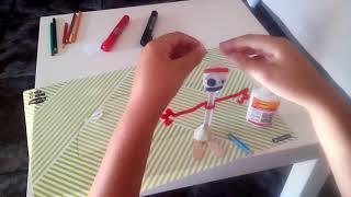 Tutorial de cómo hacer a forky con plastilina