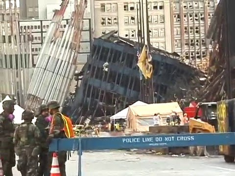 A RARE VIEW OF GROUND ZERO ON 9-16-01.avi