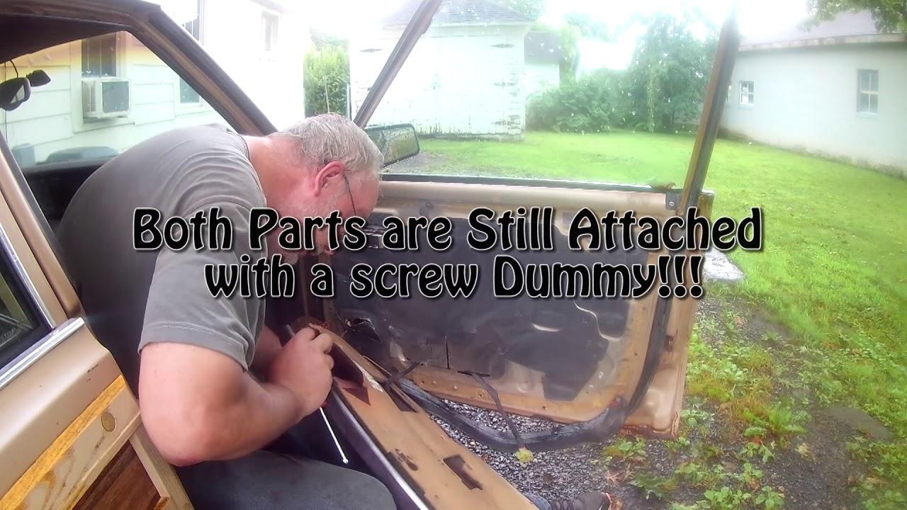 1984 Chrysler Lebaron Door Panel Removal And Power Window Gear Change Youtube