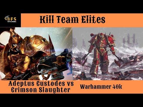 Crimson Slaughter Vs Adeptus Custodes Kill Team Elites Battle Report Warhammer 40k.