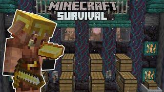 Piglin Bartering Farm! - Minecraft 1.16 Survival #22