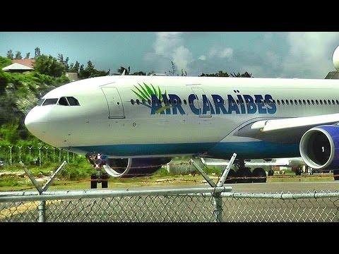 INSANE! Air Caraibes / Airbus 330 Take off Princess Juliana, St Maarten (HD1080p)