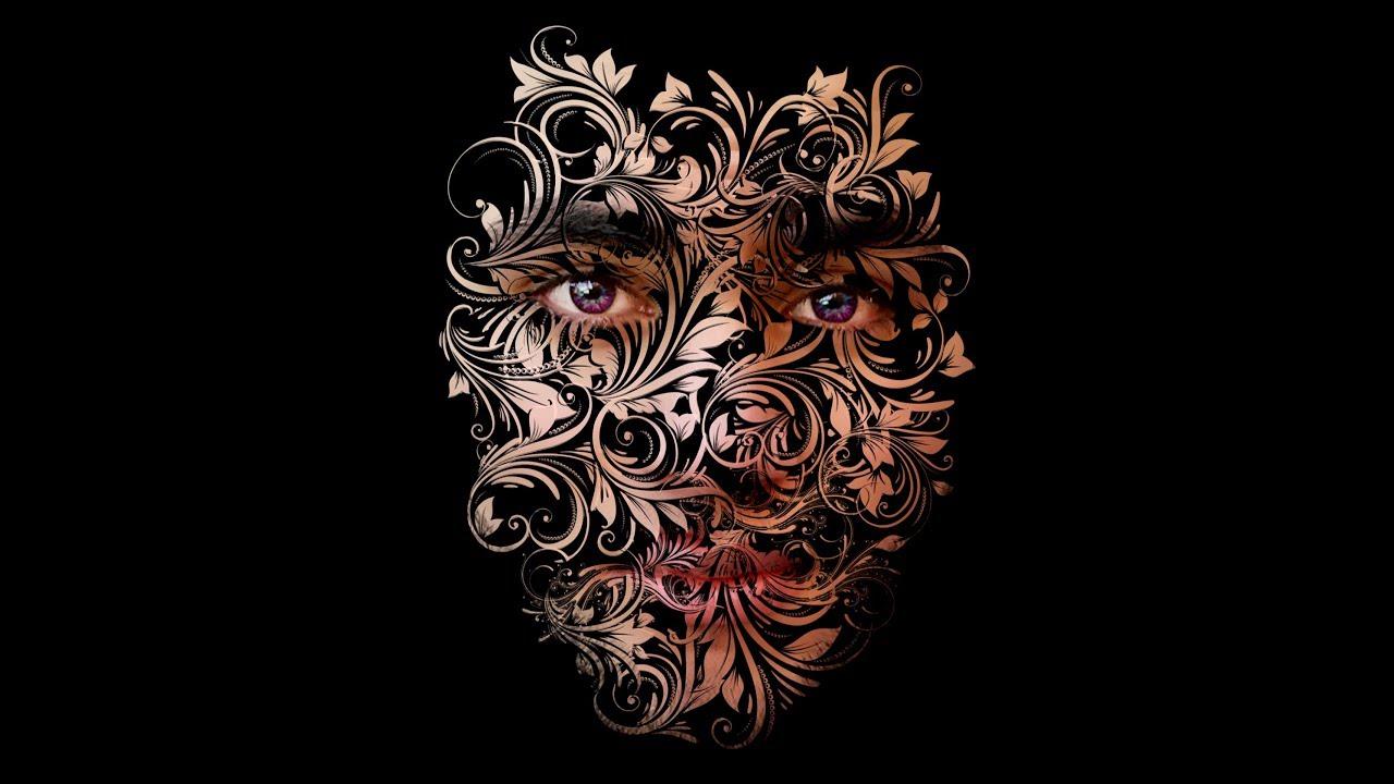 درس عمل تأثير الزخارف للوجه باستخدام الفرشاة|Study the effect of facial motifs using the brush