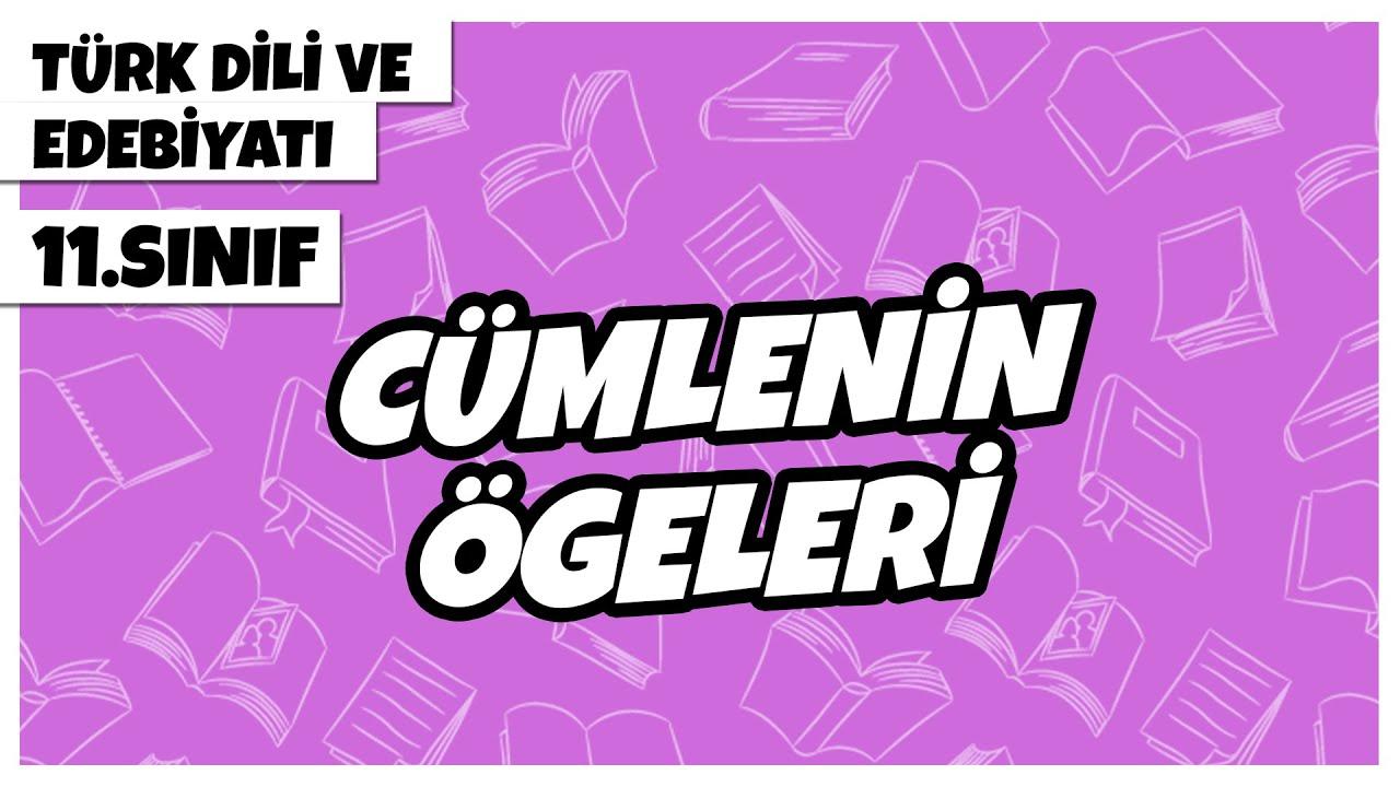 11. Sınıf Türk Dili ve Edebiyatı - Cümlenin Ögeleri    2022