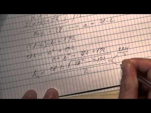 10. o. A másodfokú egyenlet 03 (7. - 39. feladat)