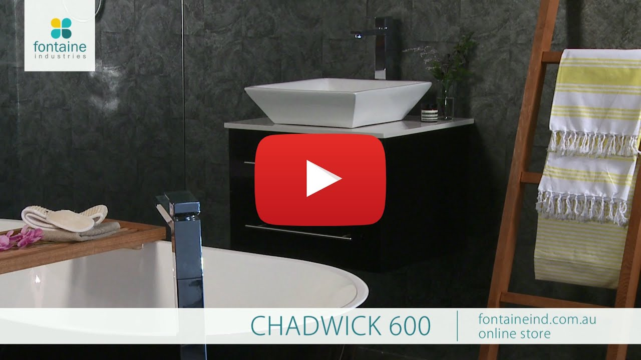 chadwick bathroom vanity black gloss stone top 600 fontaineindcomau
