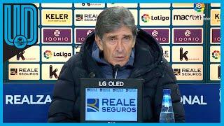 Sigue las declaraciones del técnico tras el empate entre la Real Sociedad y el Betis
