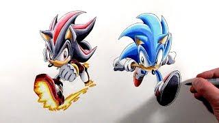 Drawing Sonic Vs Shadow - Sonic Adventure 2