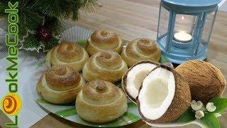 Готовим улитки-булочки с кокосовым молоком. Рецепт теста. Как приготовить. Выпечка