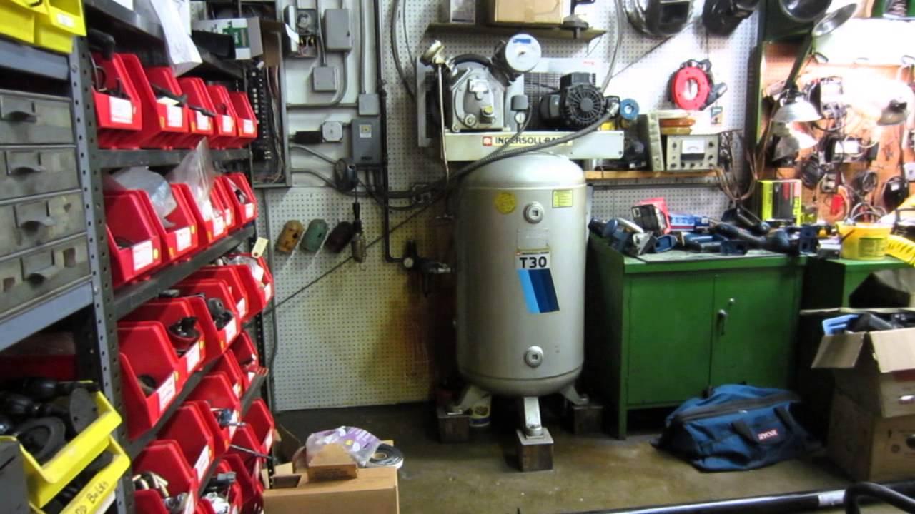 Ingersoll Rand T30 >> Ingersoll Rand T30 Compressor - YouTube