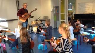 Muzikant in de klas