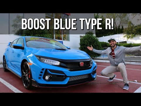 Taking Delivery Of My 2020 Civic Type R In Boost Blue Pearl S3 Ep9 Youtube