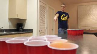 Amazing real beer pong trick shots
