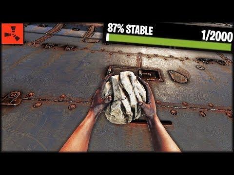 Raided A ARMORED BASE With ROCKS?! - Rust Solo Raiding