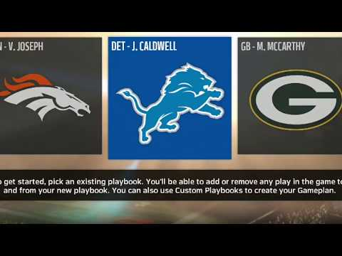 Every Single Formation In The Detroit Lions Madden 18 Offensive Playbook!!!