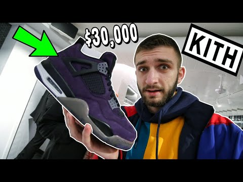 I FOUND the PURPLE TRAVIS SCOTT JORDAN 4 in NYC! FRIENDS and FAMILY OVER $30k!