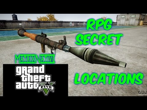 GTA5 Where To Find A RPG | All RPG Locations GTA5
