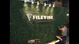 Living Wall for Filevine fabrication by Break All Production