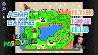 ASMR Gaming   Super Mario World Collab With FamKam ASMR Relaxing 🎮🎧Controller Sounds + Whispering😴💤