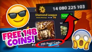 8 Ball Pool - GIVEAWAY 14 BILLION COINS!! - LEVEL 253 LEGENDARY CUES ACCOUNT!!