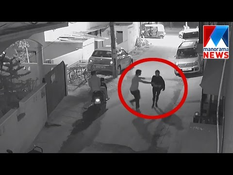 Woman molested on Banglore Street in New Year Night - Shocking Video | Manorama News