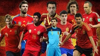 Todos los jugadores de la Selección Española 2000-2017