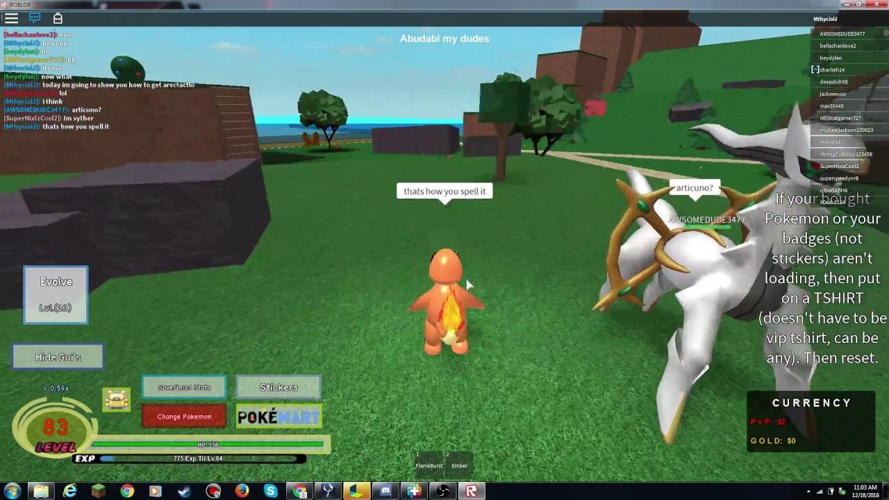 roblox pokemon legends how to get hoopa 2016