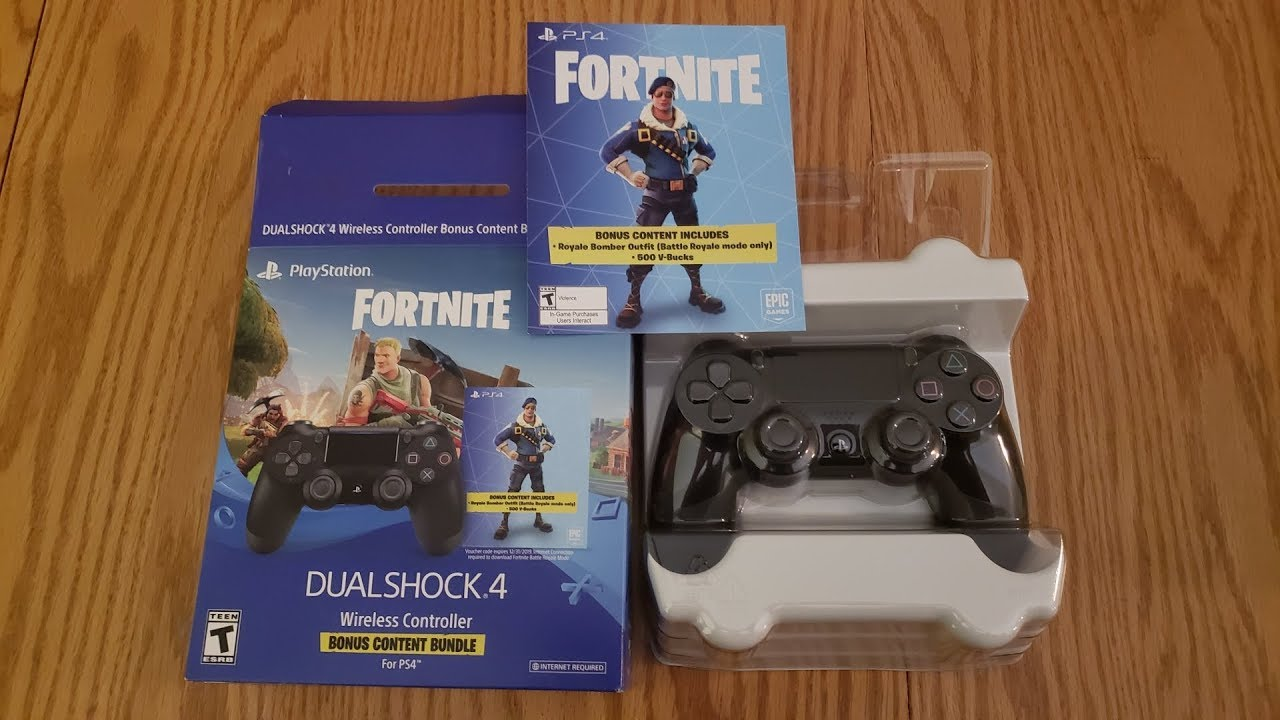Royale Bomber Skin Ps4 Controller Bundle Unboxing With My Kids