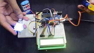 Security system using Fingerprint sensor (GT-511C1R) and Arduino