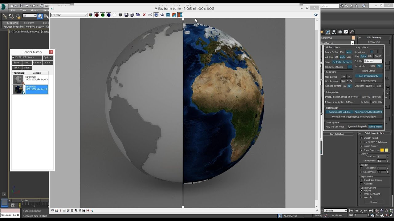 Spherical World Map.Modeling World Map Spherical Cgway Academy Youtube
