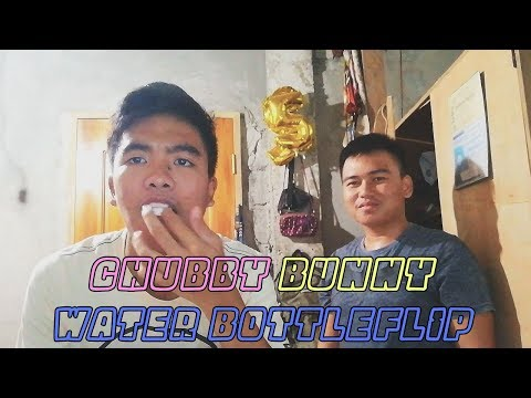 CHUBBY BUNNY-BOTTLEFLIP CHALLENGE WITH MY COUSIN | myVlogs #6