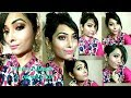 Summer Special Glowing Indian Makeup Look l Smokey Eyes l Pink Lip l Swetleena's  World l 2018