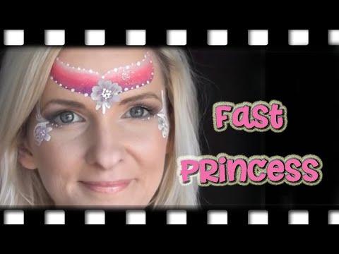 Super Fast Princess Face Painting Design