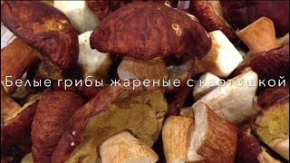 Белые грибы жареные с картошкой