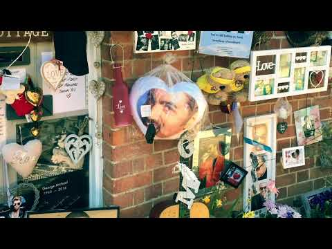 George Michael's House In Goring-on-Thames. Tribute Wall And Memorial