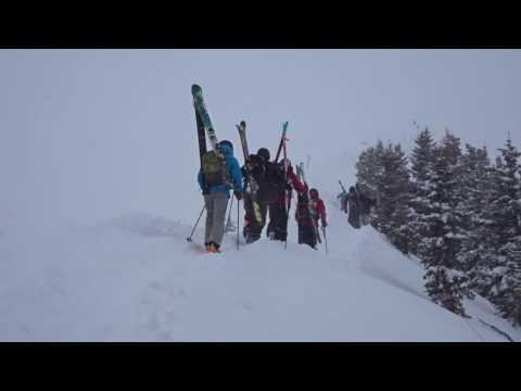 Aspen Highlands Bowl In A Blizzard 1/23/2017