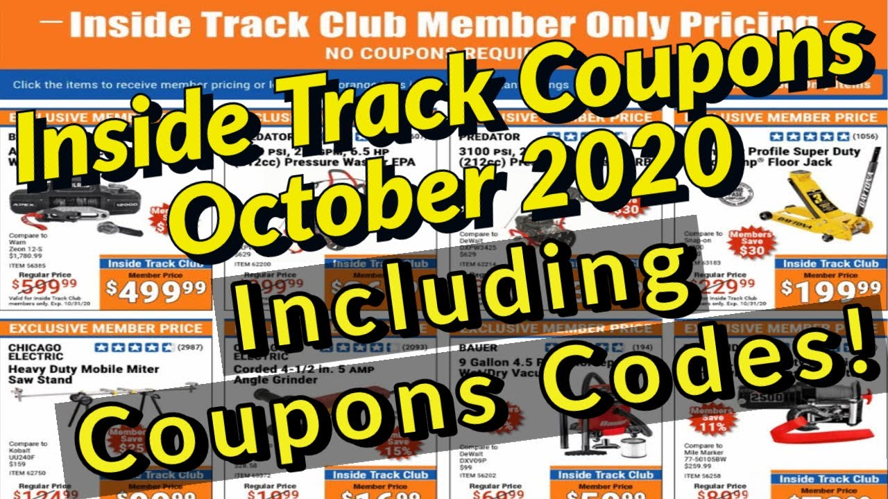 Harbor Freight Inside Track Club Coupons October 2020 INCLUDING COUPON CODES!