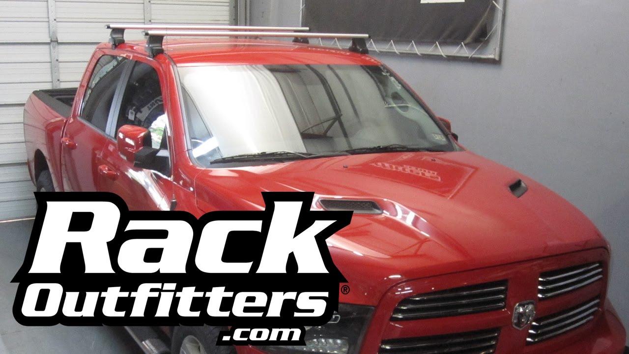 Dodge Ram 1500 Crew Cab Thule Rapid Traverse Silver